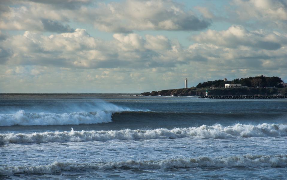 Surf spot in St Gilles Croix de Vie