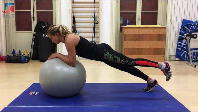 Strengthening muscles for surfing