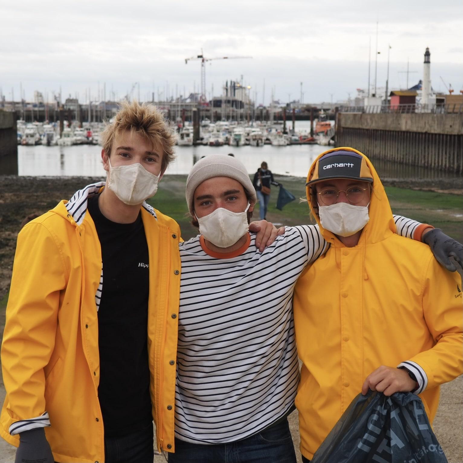 Fondateurs du projet Dobby on the Map : Max, Antoine et Pierre