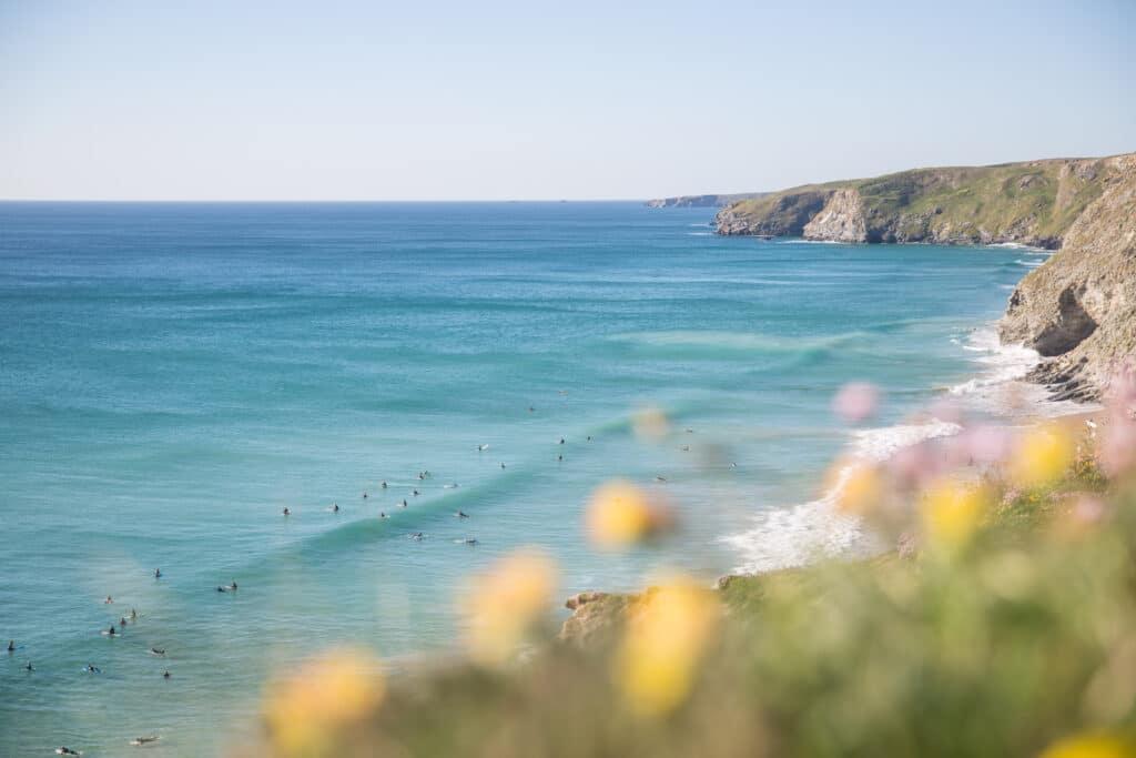 Surf à Newquay Watergate aux Cornouailles