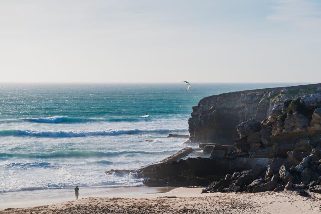 Kitesurf au Portugal sur le spot de Guincho