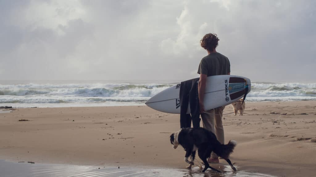 Matt Wilkinson with dogs
