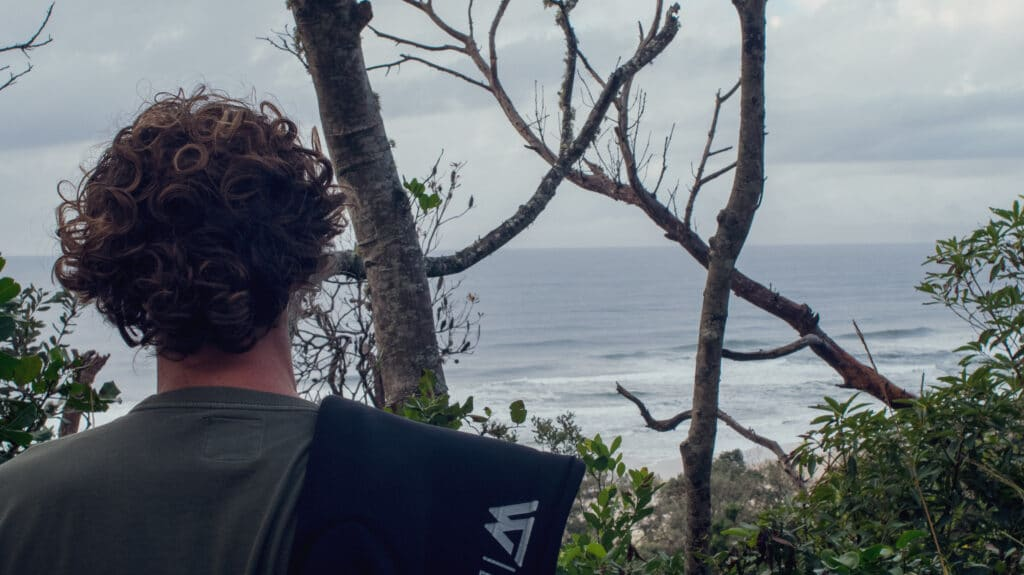Matt Wilkinson looking for waves